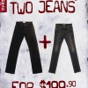 Levis Two Jeans One Price $199.90