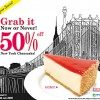 Bakerzin 50% Off Cheescake June Promotion