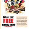 25 Hours Free Birthday Treats Promotion