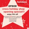 Crocs Singapore wisma atria new store special promotion | Dec 2009