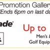Golf Apparel and Equipment Sale @ Isetan
