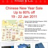 Friven & Co. Chinese New Year Sale