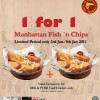 Manhattan Fish Market 1 for 1 fish and chips promotion
