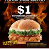 Burger King Promotion $1 Tendergrill Chicken Burger