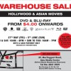 DVD & Blu-ray Hollywood Movies Warehouse Sale