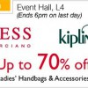 GUESS and Kipling Sale at Isetan Scotts