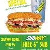 SUBWAY 8th Anniversary FREE Sub Special!