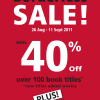 Prologue Bookstore Borderless Sale