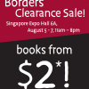 BORDERS Clearance Sale