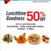 Spizza 50% Off Lunch Time Special