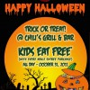 Chili's Halloween Kids Eat Free Promotion