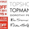 F3 End Season Sale, Up to 50% on Topshop, Miss Selfridge and more