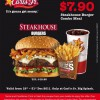 Carl's Jr. Steakhouse Burger Meal Promo