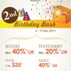 Prologue Bookstore Birthday Promos
