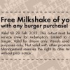 The Handburger FREE Milkshake With Any Burger