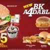BK Burger King A4dables Meal Deals