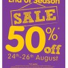 E.L.C. End of Season Sale