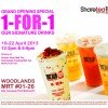 ShareTea Woodlands MRT 1-For-1 Opening Special