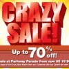 Parkway Parade Crazy Sale, Flash To Receive Free Gift