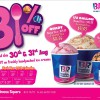 Baskin Robbins 31% Off Ice Cream @ Novena Square Velocity, Only For Two Days