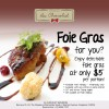 Au Chocolat $5 Foie Gras Promotion, Monday To Wednesday Only @ MBS