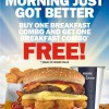 Carl's Jr. Breakfast Combo BOGO Promotion @ Changi Airport T3