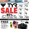 TYR National Day Celebration Sale @ Kewalram House, Up to 80% Discounts