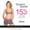Etam Student's Special 15% Off Lovely Range, Flash Pass To Enjoy Discount