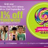 Candylicious Day 2013: Candy Tattoos & 21% Off Storewide Sale