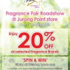 SaSa Fragrance Fair Roadshow @ Jurong Point Store, 20% Off Selected Fragrance Brands