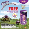 McDonald's Free Ribena Packet Drink With Happy Meal Purchase Children's Day Special