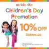 Stride Rite 10% Discount Storewide Sale Children's Day Promotion
