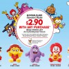 McDonaldland Characters Plushie $2.90 With Any Purchase December 2013 Promotion