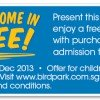 Jurong Bird Park Kids Free Entry Year End Offer 2013: For Children From 3-12 Years Old With One Adult Purchase