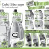 Cold Storage Vineyard Specials November 2013: Red, White Wine & Moscato From $19.95