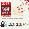 Creative Labs Free $5 or $10 Toast Box Voucher Online Redemption With Hitz Headset Purchase