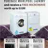 Whirlpool Singapore Free Microwave Giveaway Promotion When You Purchase Laundry Appliances