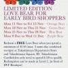 Takashimaya Redeem Free Limited Edition Love Bear For Early Shoppers With Minimum $150 Spending