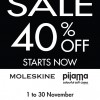 Times Bookstores Moleskine Organizer & Pijama Soft Case 40% Discount Sale November 2013