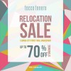 Tocco Tenero Relocation Sale Up To 70% Discount Storewide @ Changi City Point