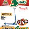Giant Hyper Exclusive Christmas Promotion 2013: Aleoca Alloy Kid's Scooter For Only $19.90