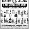 Century Cellars Super Warehouse Sale 2013 @ River Valley Road: Lots Of Bargains On Beer, Spirits & Wines