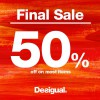 Desigual Final Sale 2013: 50% Off Almost Everything Storewide Except New Collection