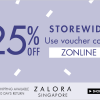 Zalora Celebrates The Online Revolution 2013: 25% Storewide Fashion Discount Including Sale Items