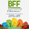 DOT Havaianas BFF Christmas Deal 2013: 20% Off Second Pair Of Sandals/Fit-Flops