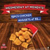 Wendy's Singapore 15-Piece Nuggets For Only $5: Last Wednesday Of The Month Promotion