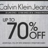 Calvin Klein (CK) Jeans Up To 70% Discounts @ TANGS Vivocity Outlet Only