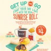 "McDonald's ""Get Up & Go"" Sunrise Roll Breakfast Bundle Extra Value Meals From $4 Only"