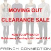 French Connection Moving Out Clearance Sale @ Robinsons Centrepoint Till End March 2014
