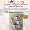 Ya Kun Celebrates 70th Anniversary With 70 Cents On All Regular Hot Beverages Today